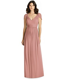 Cutout-Back Chiffon Gown