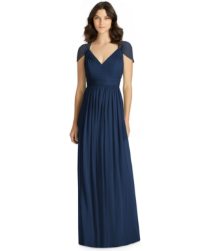 Jenny Packham CUTOUT-BACK CHIFFON GOWN