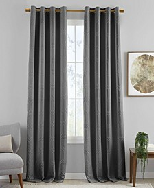 "Huxley Geometric 52"" x 84"" Blackout Curtain Panel"