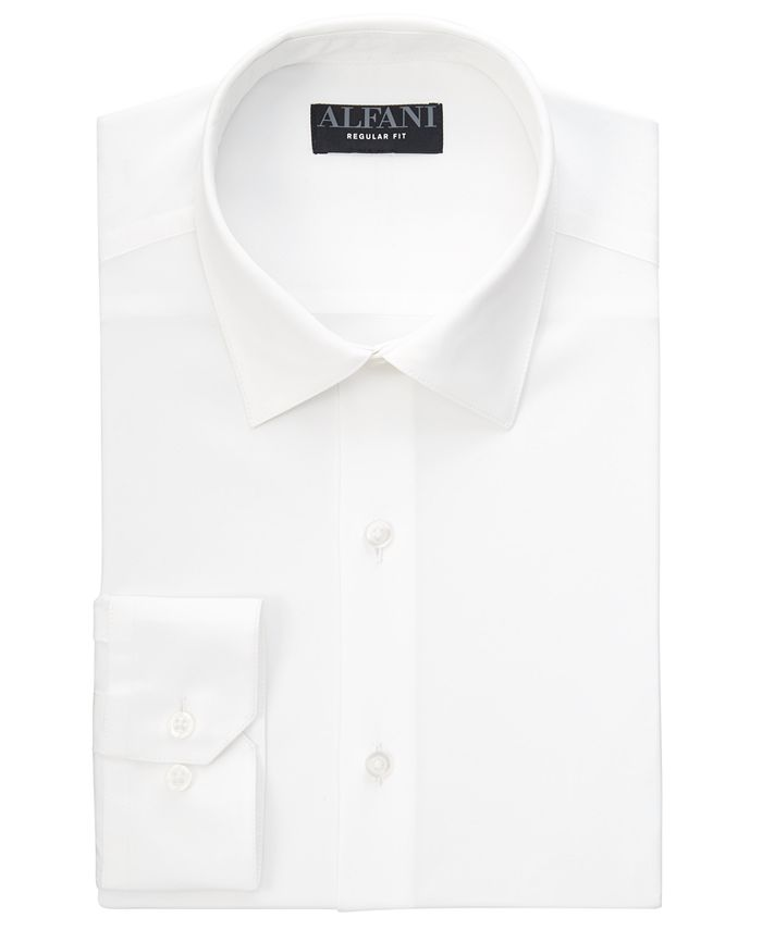 Alfani - Men's Solid Dress Shirt, Created for Macy's
