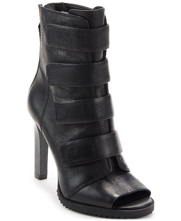 DKNY Blake Lug Sole Peep-Toe Booties