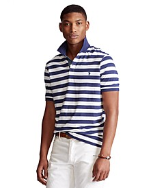 Men's Classic Fit Striped Jersey Polo Shirt