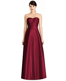 Strapless Satin Twill Gown