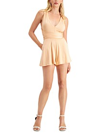 Angeli V-Neck Crisscross Romper