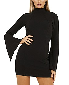 Open-Back Wide Sleeve Dress