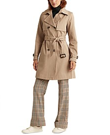 Double-Collar Double-Breasted Trench Coat