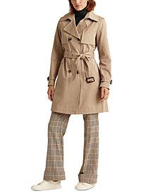 Lauren Ralph Lauren Double-Collar Double-Breasted Trench Coat