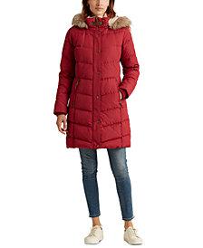 Lauren Ralph Lauren Hooded Down Coat, Created for Macy's