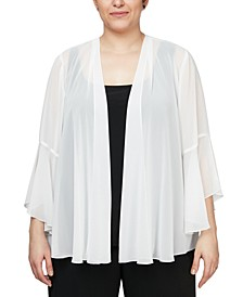 Plus Size 3/4-Sleeve Jacket