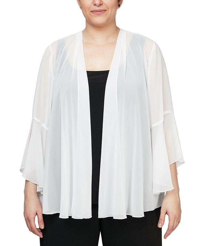 Alex Evenings - Plus Size 3/4-Sleeve Jacket