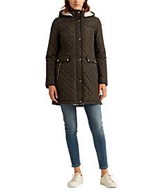 Lauren Ralph Lauren Diamond-Quilted Hooded Coat