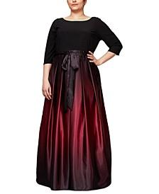 Plus Size Ombré Ballgown
