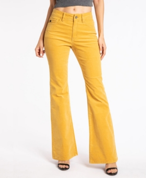Women's High Rise Corduroy Skinny Flare Jeans
