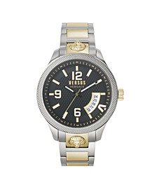 Men's Reale Silver and Gold Tone Stainless Steel Bracelet Watch 44mm