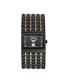 Women's Velasca Black/Rose Gold Tone Stainless Steel Bracelet Watch 49mm