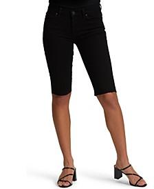 Cutoff Denim Bermuda Shorts