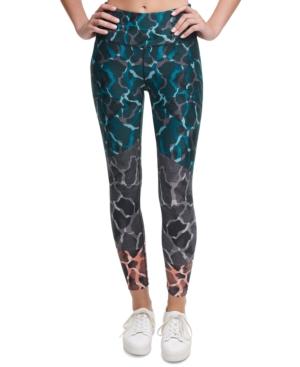 Calvin Klein Performance Disguise Printed High-waist Leggings In Multi