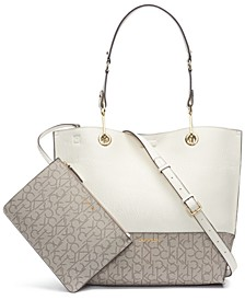 Signature Reversible Tote With Pouch