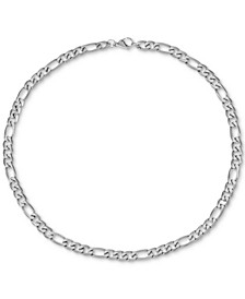 "INC Men's Figaro Link 24"" Chain Necklace, Created for Macy's"