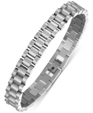INC INTERNATIONAL CONCEPTS INC MEN'S STAINLESS STEEL WATCH LINK CHAIN BRACELET, CREATED FOR MACY'S