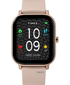 Unisex Metropolitan S Blush Silicone Strap Amoled Touchscreen Smart Watch with GPS Heart Rate 36mm