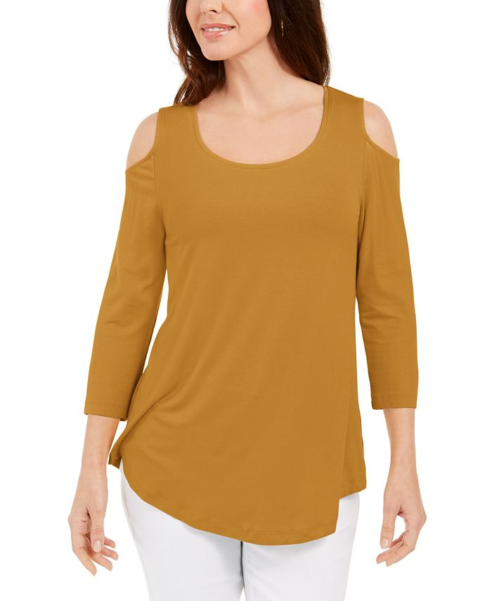 JM Collection - Cold-Shoulder Top, Created for Macy's