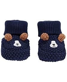 Baby Boys Dog Crochet Booties