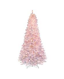 7.5' Pre-Lit Slim Mixed Iridescent Tinsel Glitter Tree