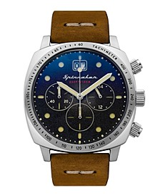 Men's Hull Chrono Brown Genuine Leather Strap Watch 42mm