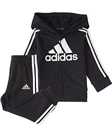 Baby Boys Zip Front Essentials French Terry Hoodie & Jogger Set
