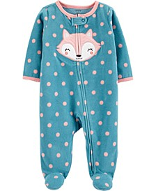 Baby Girl  Fox Zip-Up Fleece Sleep & Play