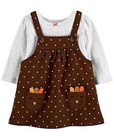 Baby Girl  2-Piece Thanksgiving Bodysuit & Jumper Set