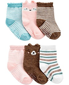 Baby Girl  6-Pack Animal Booties