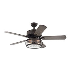 "Bobet 52"" 2-Light Indoor Remote Controlled Ceiling Fan with Light Kit"