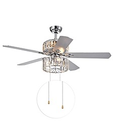"Perris 52"" 3-Light Indoor Hand Pull Chain Ceiling Fan with Light Kit"