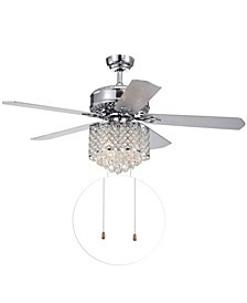 "Deidor 52"" 3-Light Indoor Hand Pull Chain Ceiling Fan with Light Kit"