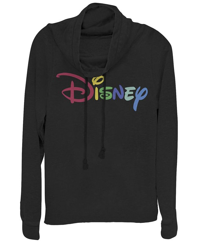 Fifth Sun Women's Disney Logo Multicolor Disney Fleece Cowl Neck Sweatshirt
