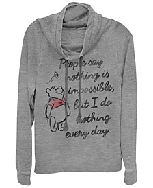 Women's Winnie the Pooh Impossible Fleece Cowl Neck Sweatshirt