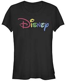 Women's Disney Logo Multicolor Disney Short Sleeve T-shirt