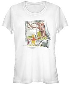 Women's Winnie the Pooh Winnie Window Short Sleeve T-shirt