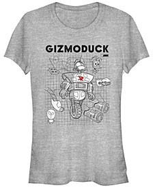 Women's Duck Tales Gizmoduck Schematic Short Sleeve T-shirt