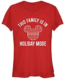 Women's Disney Mickey Classic Family Holiday Mode Short Sleeve T-shirt