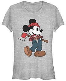 Women's Disney Mickey Classic Lumberjack Mickey Short Sleeve T-shirt