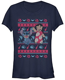 Women's Disney Lilo Stitch Lilo Hawaiian Pattern Short Sleeve T-shirt
