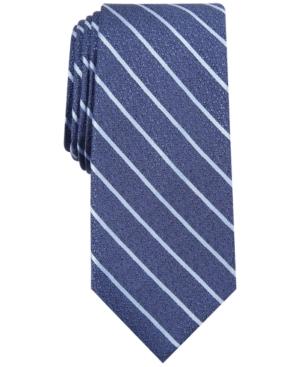 Alfani Men's Primrose Slim Textured Stripe Tie, Created for Macy's