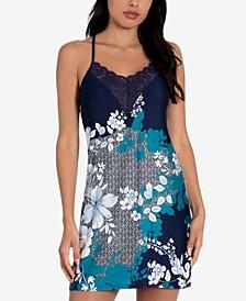 Niya Border-Print Chemise Nightgown
