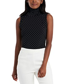 Harper Polka-Dot Turtleneck Top, Created for Macy's