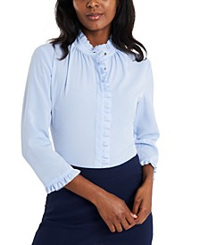 Penny Ruffled-Trim Blouse, Created for Macy's
