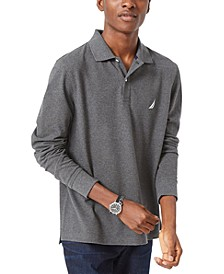 Men's Long-Sleeve Cotton Polo