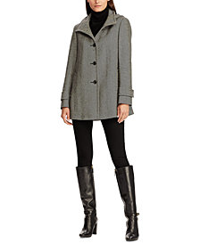 Lauren Ralph Lauren Wool-Blend Hooded Coat, Created for Macy's